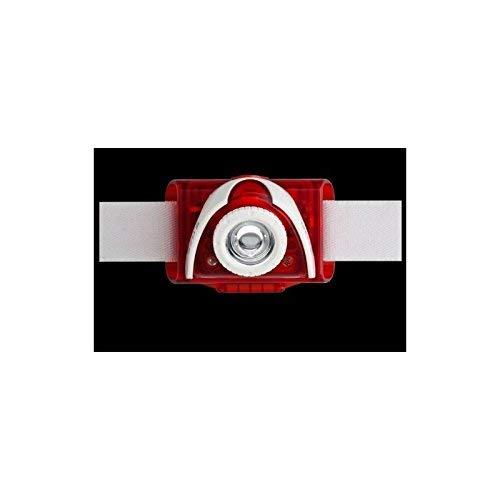 Ledlenser SEO5 LED Stirnlampe, helle 180 Lumen, 25 Stunden Laufzeit, batteriebetrieben, fokussierbar, rot, inkl. Batterien