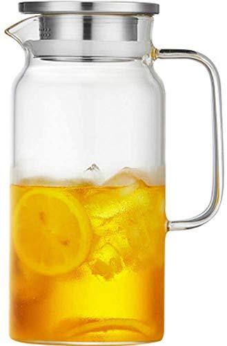 ETDWA Glaskessel, Glasflasche, verdickter Griff, saftbeständig gegen Kälte und Hitze