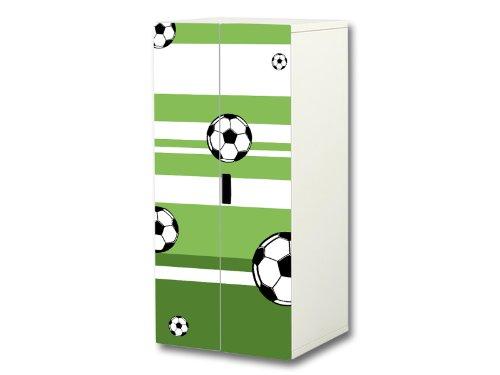 """""""Fußball"""" Aufkleber-Set passend für den Kinderzimmer Schrank STUVA von IKEA (Korpus: 60 x 128 cm) - SC04"""