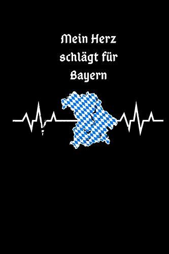 Mein Herz Schlägt Für Bayern: Zeichenbuch Malbuch A5 Für Bayrische Lehrer Boarische Tradition Bayrisches Notizbuch Für Büroarbeiter München