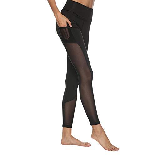 DAUERHAFT Pantalones Deportivos para Mujer Disponibles en 4 Tallas Diferentes Cómodo, para Atletismo, para Yoga(M)