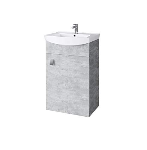Planetmeubel wastafel met wastafelmeubel / wastafelmeubel 44 cm gastentoilet beton
