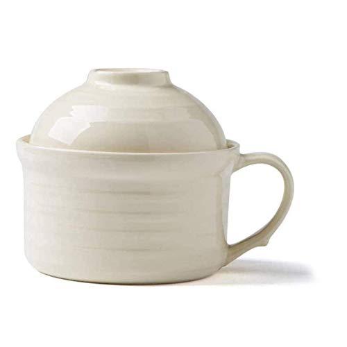 GCE Tazones de Sopa de 600 ml Mango de Estilo japonés Fideos instantáneos cerámica 1 Pieza