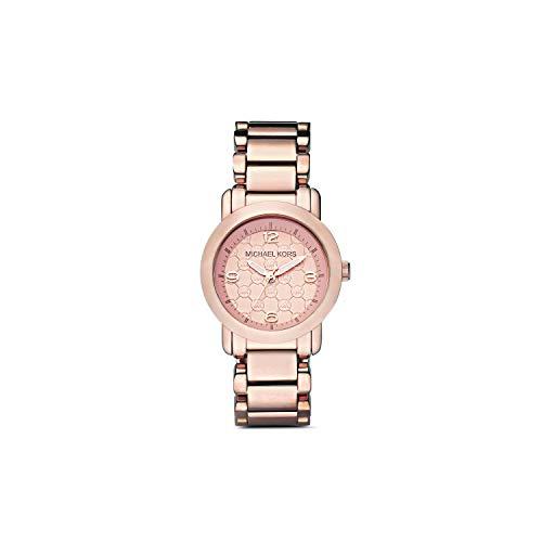 Michael Kors Women's Three Hand Rose Gold Stainless Steel Watch MK3159