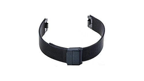 Uhrenarmband für Skagen 233LTMB XL- Edelstahl PVD schwarz Milanaise Ersatzband