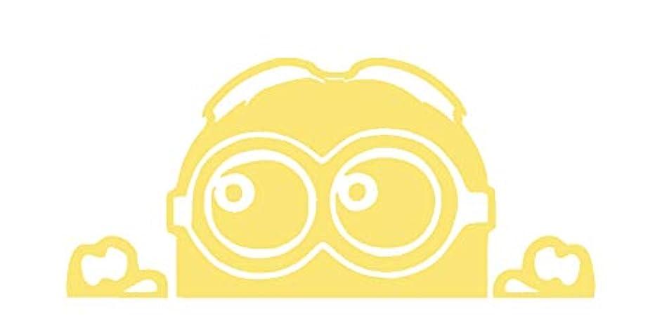 Creative Concepts Ideas Minion Peeking Bright Yellow CCI Decal Vinyl Sticker|Cars Trucks Vans Walls Laptop|Yellow|7.0 x 3.4 in|CCI2223