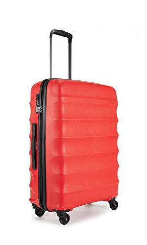 Antler Suitcase Juno, 4 Wheel Spinner, Medium, 68cm-70L, Red