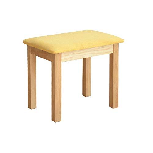 KDJB & DM stoffen bekleed eettafel massief hout vierkant huis kleine toilettafel kruk eenvoudige montage HengxIAO (kleur: geel)