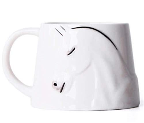 HYOUH Kaffeebecher Kakaobecher Handgemachte bemalte Tasse Keramik Tasse Creative Mark Cup Paare Cup Geschenk Tasse 201-300ml Moma White Porcelain