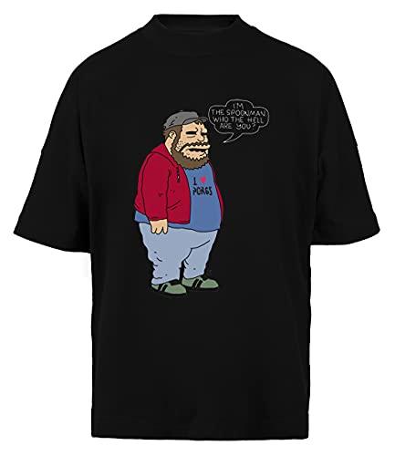 I'm The Spoonman - Doughboys Unisex Hombre Mujer Holgada Camiseta Black Algodon Organico Unisex Baggy T-Shirt Black