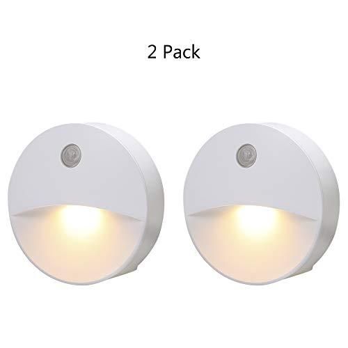 Lixada SMD2835 Led-nachtlampje, AC220V, 0,5 watt, naast lamp met gevoelige lichtsensor, warmwit, voor gang, slaapkamer, woonkamer, restaurant, badkamer