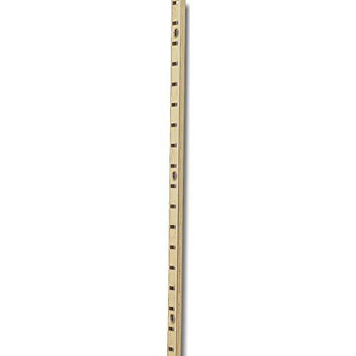 Gedotec railsysteem voor plankhouders plankrail keuken meubelrail voor reksysteem - VARI 1000 mm Stahl Vermessingt