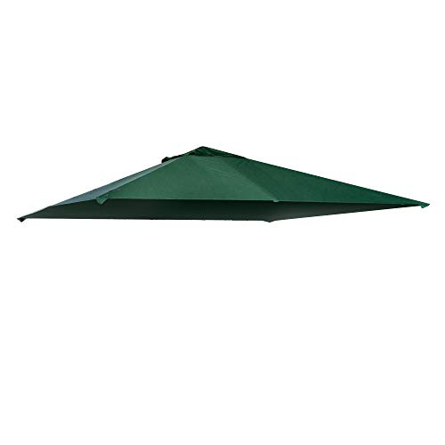 Outsunny Pavillondach, Ersatzdach für Pavillon, Pavillonabdeckung, Sonnenschutz Polyester, Grün, 3 x 3 m