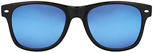MOKIES Unisex Sonnenbrillen - UV400 Filterkategorie 3 CE Kennzeichnung - Polycarbonat - mit Federscharnier - 102 Blau