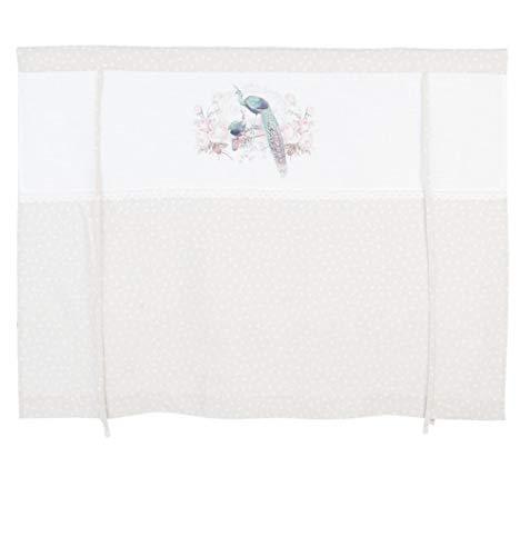 L'Esprit Des Anges Rideau Store Beige Les Paons Hauteur Réglable Polyester 120 x 90 cm