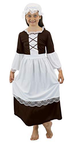 I LOVE FANCY DRESS LTD Déguisement de Petite Femme de ménage pauvre du Temps de la Renaissance pour Enfant. Ideal pour Les fêtes de Fin d'école. ( XLarge - 10/12 Ans )