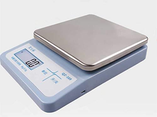 パーソナル電子天びん・デジタルはかり・厨房デジタルはかり ・LED大型液晶表示・ステンレス皿・電子秤・天秤・電子計量器具 (0.5g-6kg) 秤量6kgまで、0.5g単位で表示