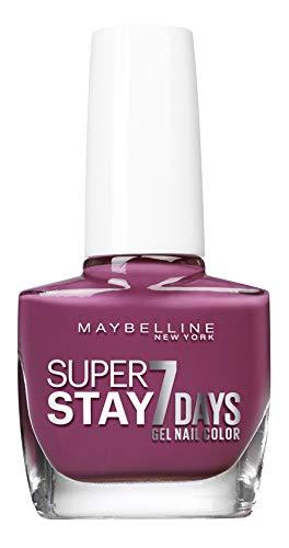 Gemey Maybelline (Gem6) Maybelline New York Tenue & Strong Pro Nagellack, Technologie Gel 255, lila on violett