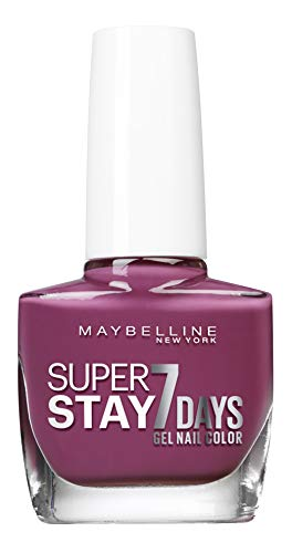 Gemey Maybelline (Gem6) Maybelline New York Tenue & Strong Pro nagellak, technologie gel 255, lila op violet