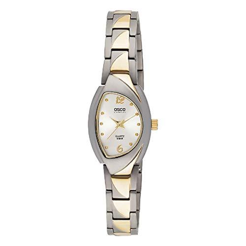 Osco Germany Titan-Armbanduhr Damen Bicolor mit Metallband 06144003