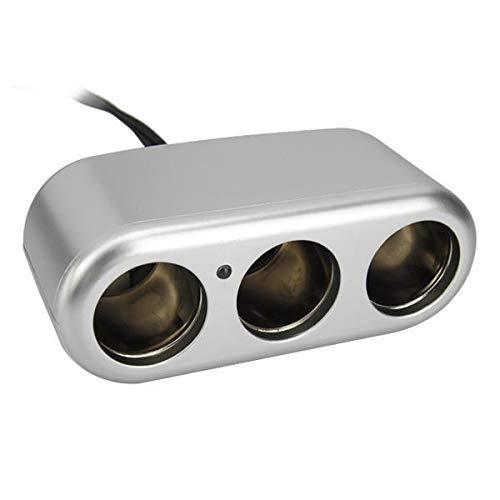 Suncolor8 Neu 3 Wege Auto Zigarette Feuerzeug Sockel Splitter Adapter Ladegerät LED langlebig Dauerhaft
