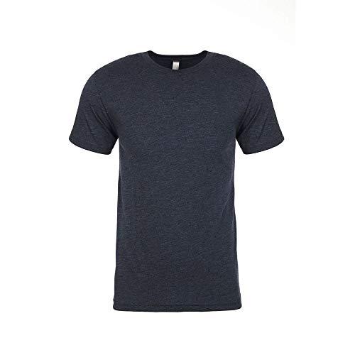 Next Level - Camiseta de Cuello Redondo Tri-Blend para Hombre Caballero (M) (Azul Marino Vintage)