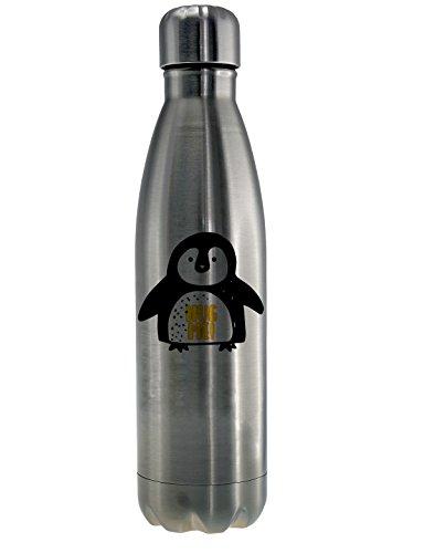 Guten-Morgen-Becher Hot & Cold Thermo Trinkflache Hug Me 500ml Pinguin Sportflasche, Wasserflasche, Thermosflasche, Thermoskanne Camping Yoga, Bergsteigen, Wandern, Laufen, Fitnessstudio