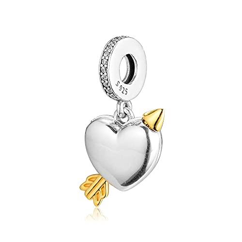 Pandora 925 Pulsera De Plata Con Forma De Flecha De Amor, Cuentas Auténticas Para Mujer, Joyería, Fabricación De Bricolaje, Regalo Exquisito Kralen Berloques
