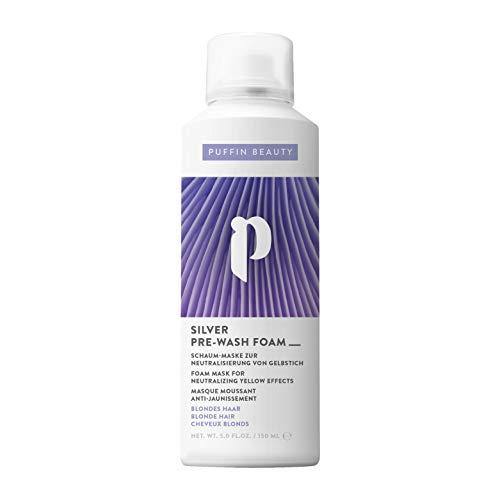 Pony Puffin Silber Schaum Maske - 150 ml Neutralisierung Von Gelbstich Bei Blonden Oder Blondiertem Haar Ersetzt Silbershampoo
