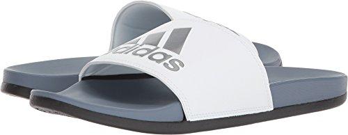 adidas Men's Adilette Comfort Slide Sandal - Steel/White/Black