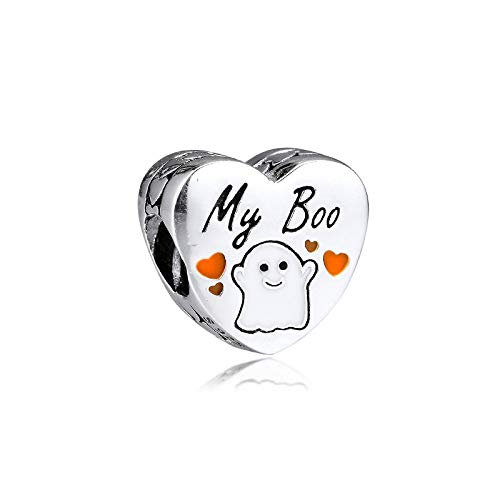Diy Genuine 925 Sterling Silver My Boo Heart Shape Charms Beads For Jewelry Making Fits Original Bracelet Charms Argent