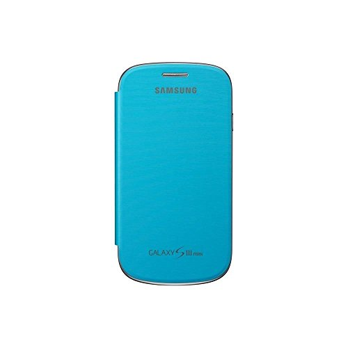 Samsung Original schützende Display-Klappe / Flip-Cover EFC-1M7FLEGSTD (kompatibel mit Galaxy S3 mini) in light blue