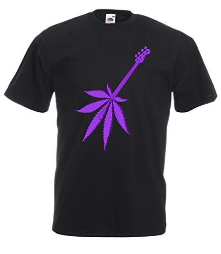 MFAZ Morefaz Ltd - Camiseta - Manga Corta - Hombre Ganja Guitar Black T-shirt Nr 25 S