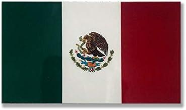 メキシコ 国旗 ステッカー ( 屋内 ・ 屋外 用 防水 シール ) (M 約96mmx55mm)