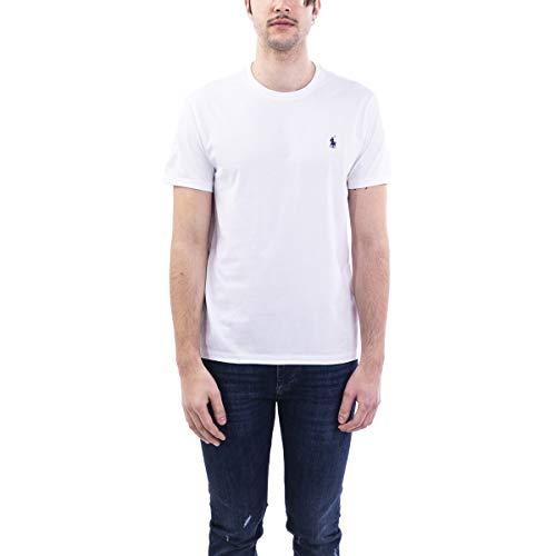 Polo Ralph Lauren tee-Shirts Camiseta, Blanco (White A1000), M para Hombre