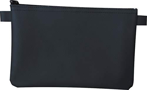 Banktasche Geldscheintasche aus Kunstleder 25 x 16 cm (Schwarz)
