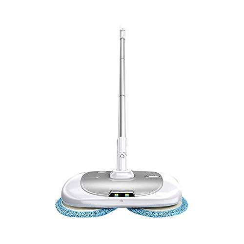 Adesign Inalámbrico for pisos duros Limpiador y pulidor, eléctricos Spray Mop con la rotación de ratón, potente depurador del piso Pulidora for el azulejo y piso de madera, con 400 ml del tanque de ag