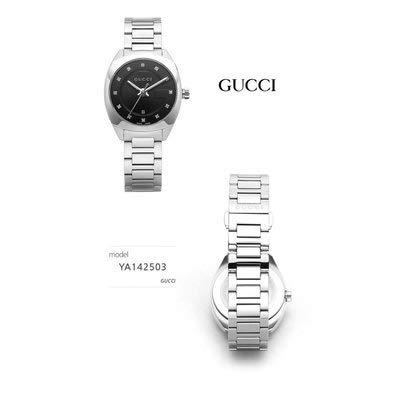 グッチGUCCI時計YA142503GG2570ダイヤインデックスブラックレディース腕時計[並行輸入品]