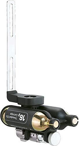 Topeak Unisex-Adult Ninja CO₂ Halterung und CO2 Kartuschen, Black/Silver, One Size