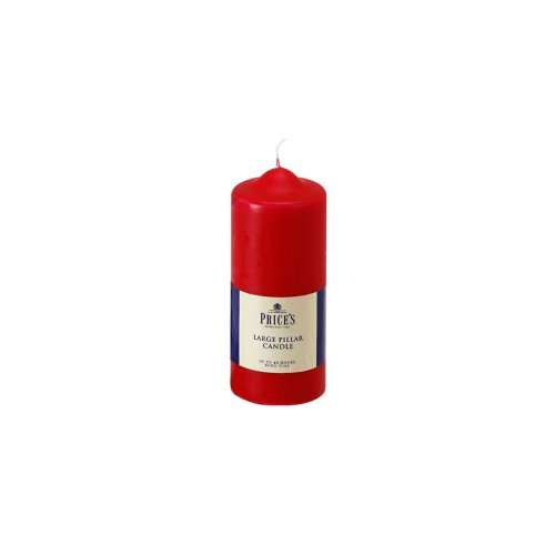 Price's Candles 6-Inch Pillar Candle, Red