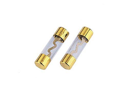 Hama Glassicherung 2 Stück, KFZ Feinsicherung 30A, 10 x 38mm, vergoldet