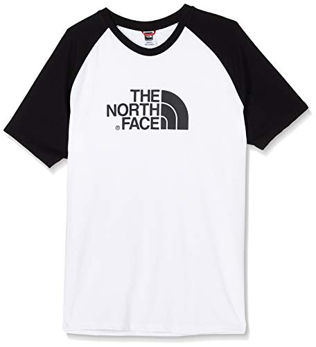 THE NORTH FACE Herren M Ss Raglan Easy Tee, TNF Wh/TNF Bl, XXL