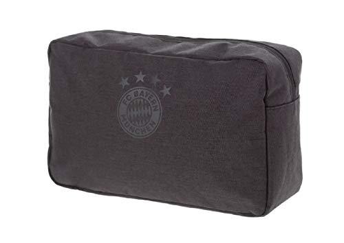 FCB Bayern München Kulturbeutel (one Size, Anthrazit)