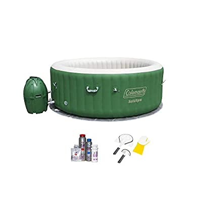 Coleman SaluSpa 6 Person Inflatable Hot Tub, Cleaning Tool, and Maintenance Kit