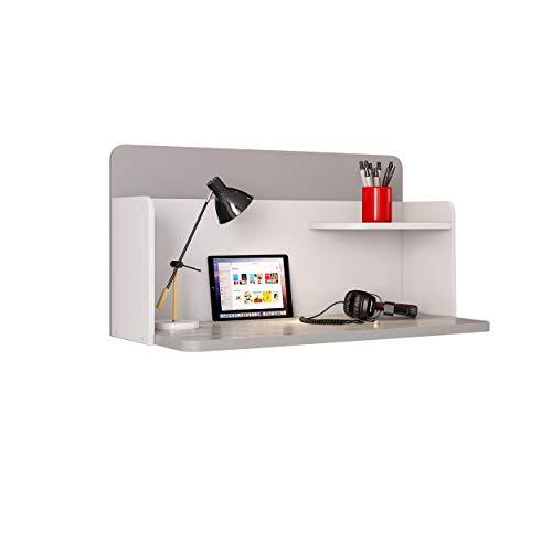 Polini Mirum Schreibtisch Wandschreibtisch grau weiß