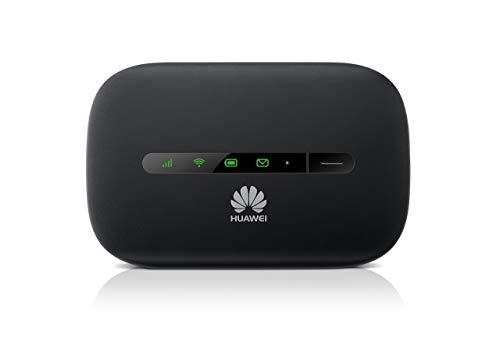 HUAWEI E5330 3G Mobile Hotspot /Portable 3G WiFi Router, Downstream 21.6Mbit/s, 10 Clienti, 5 Secondi di Boot Rapido, colore: Nero [Regno Unito] (Ricondizionato)