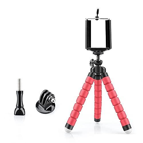 Fuquíbandian Mini Flexible Esponja Pulpo del trípode de cámara del iPhone Compatible con Samsung Xiaomi Huawei teléfono móvil Inteligente for GoPro VP414C Accesorios de Soporte (Color : VP414C Red)