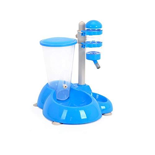 Qidongshimaohuacegongqiyouxiangongsi Futterautomat Neue ABS-Material Kombination Trinkbrunnen Zubringer hängende Art Feeder automatische Zuführung blau Nizza Aquarium