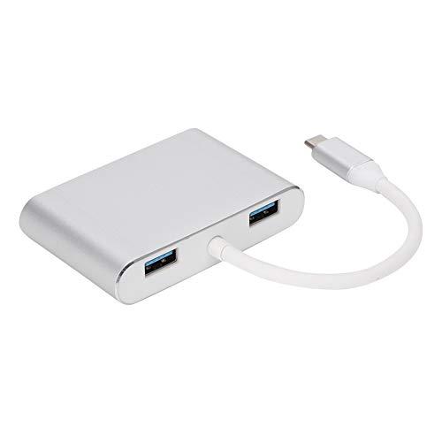 Asixxsix Adaptador USB Tipo C, Adaptador convertidor USB3.0 5 en 1, concentrador Multifuncional Tipo C, Compatible con protocolo de Carga PD para teléfonos móviles, portátiles, tabletas