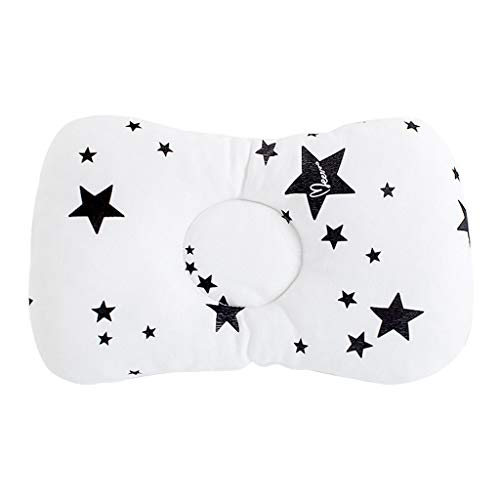 Luonita Newborn Baby Head Shaping Pillow,Preventing Flat Head Syndrome Premium Foam Infant Pillow for Head&Neck Support Pillow Best Perfect for Baby Boy & Girl (Black)
